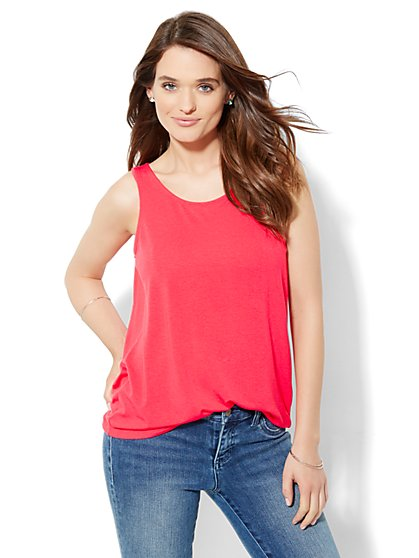 Manhattan Tee - Draped Open-Back Tee - New York & Company