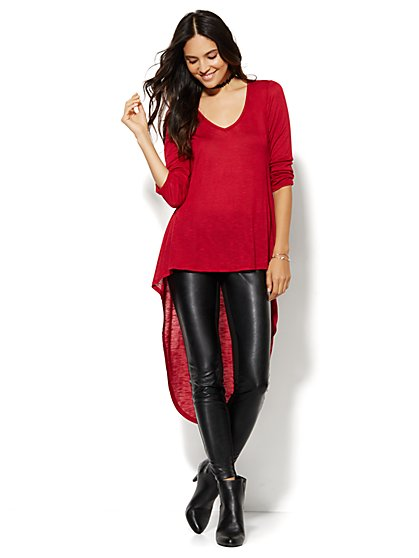 Manhattan Tee - Extreme Hi-Lo Tunic - New York & Company