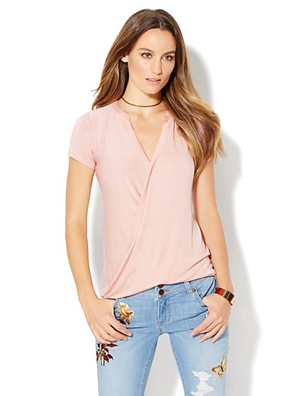 Manhattan Tee - Hi-Lo Wrap Tee - New York & Company