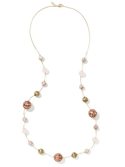 Marble Beaded Necklace - New York & Company