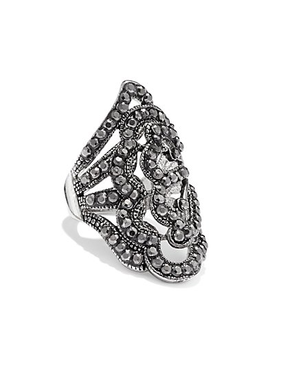 Marcasite Filigree Ring - New York & Company