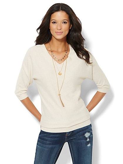 Marled Dolman Sweater  - New York & Company