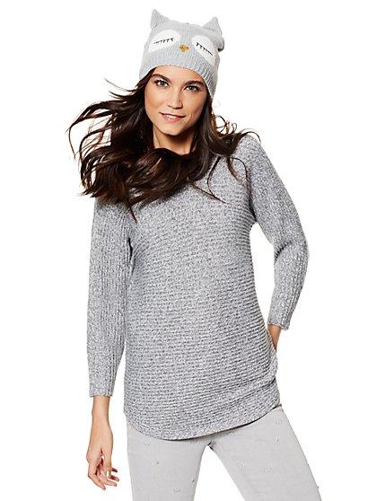 Marled Shirttail Dolman Sweater - New York & Company