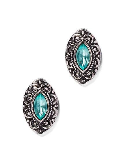 Marquise Faux-Stone Post Earring  - New York & Company