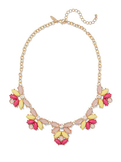 Marquise-Shaped Faux-Stone Necklace  - New York & Company