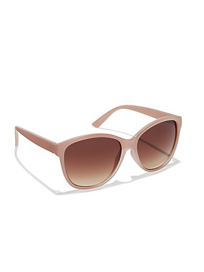 Matte Pink-Frame Sunglasses  - New York & Company