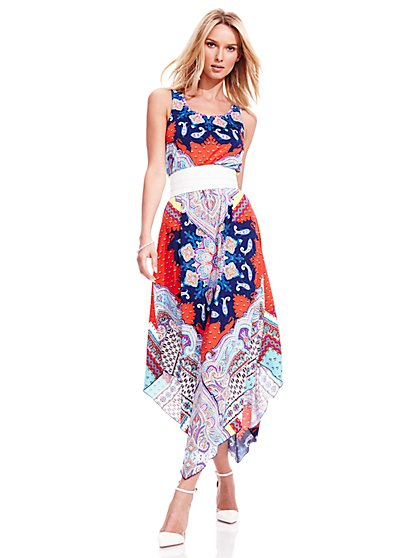 Maxi Dress - Paisley - Petite  - New York & Company