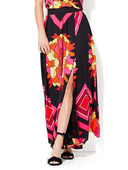 Maxi Skirt - Floral/Print    - New York & Company