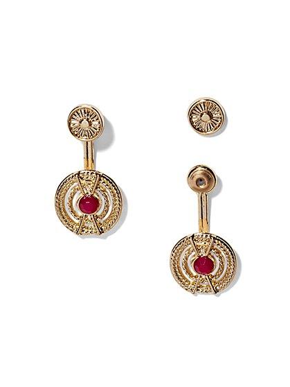 Medallion Front/Back Earring  - New York & Company