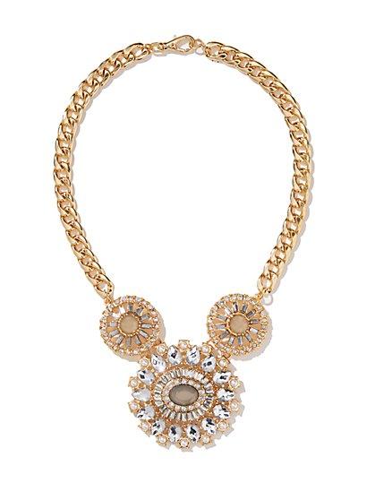 Medallion Trio Pendant Necklace  - New York & Company