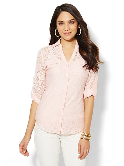 Mercer Lace Shirt - New York & Company