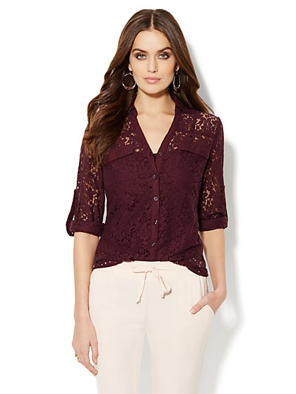 Mercer Lace Shirt - New York & Company