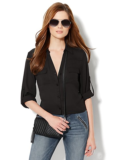 Mercer Soft Cropped Shirt