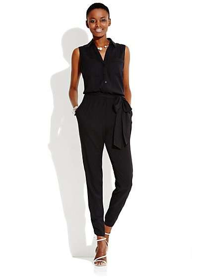 Mercer Soft Jumpsuit - Solid - New York & Company