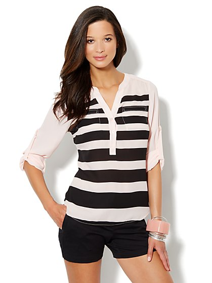 Mercer Soft Popover Shirt - Stripe
