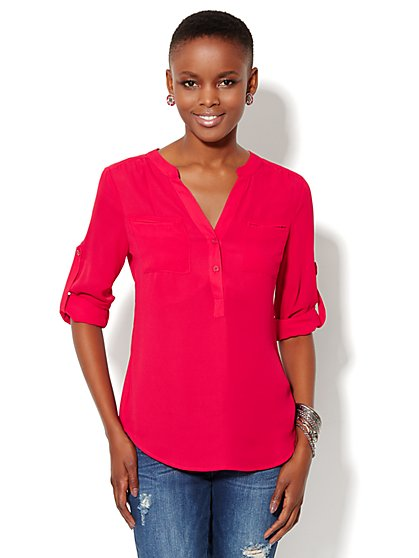 Mercer Soft Popover Shirt  - New York & Company