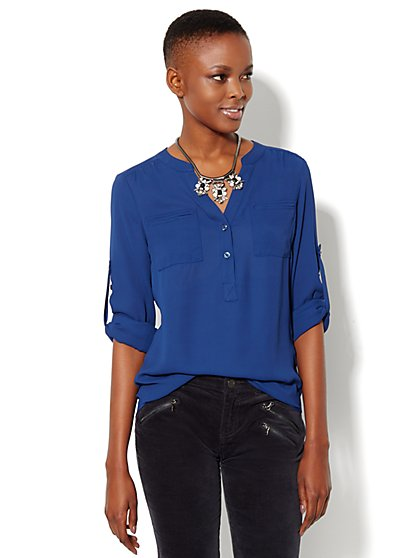 Mercer Soft Popover Shirt  - New York & Company