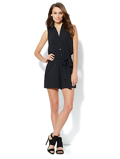 Mercer Soft Romper - Black