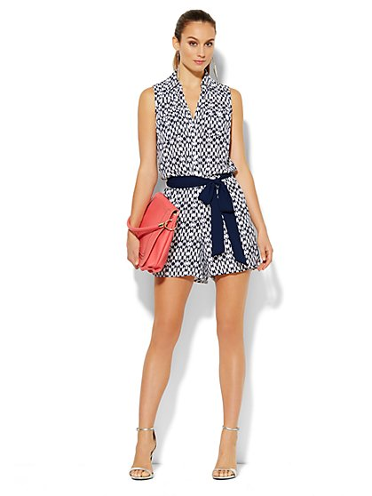 Mercer Soft Romper -  Print  - New York & Company