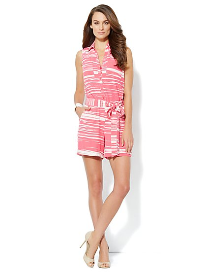 Mercer Soft Romper - Stripe