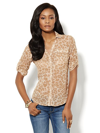 Mercer Soft Shirt - Animal Print
