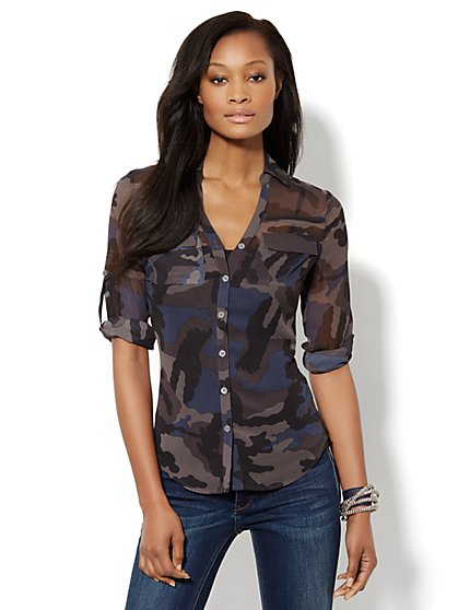 Mercer Soft Shirt - Camo Print