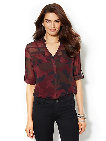 Mercer Soft Shirt - Camo - New York & Company
