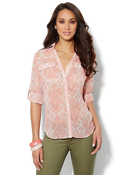 Mercer Soft Shirt - Paisley Print