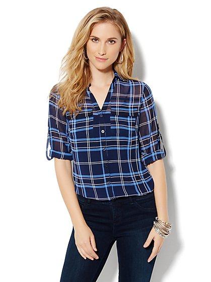 Mercer Soft Shirt - Plaid - New York & Company