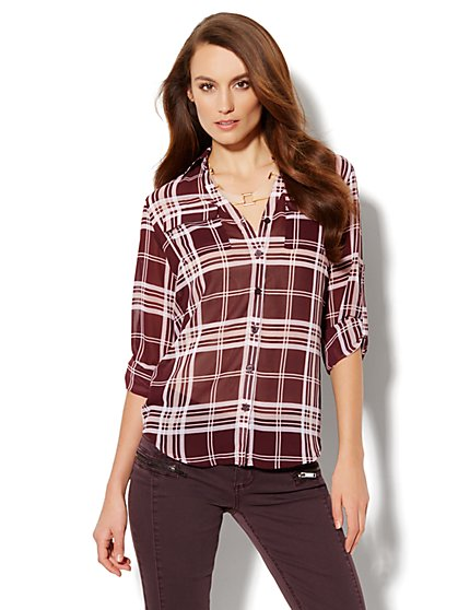 Mercer Soft Shirt - Plaid - New York & Company