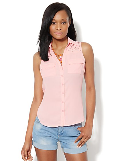 Mercer Soft Shirt - Sleeveless - Laser Cut