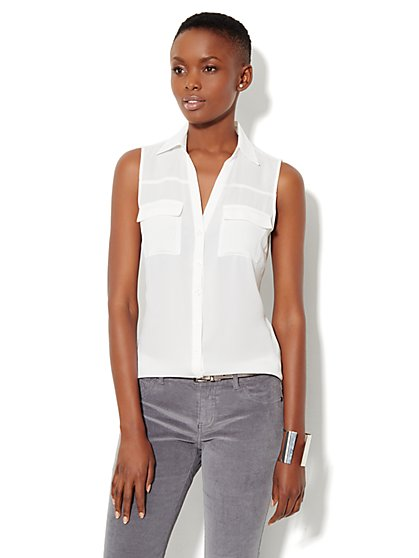 Mercer Soft Shirt - Sleeveless - New York & Company