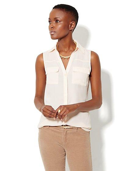 Mercer Soft Shirt - Sleeveless - New York & Company