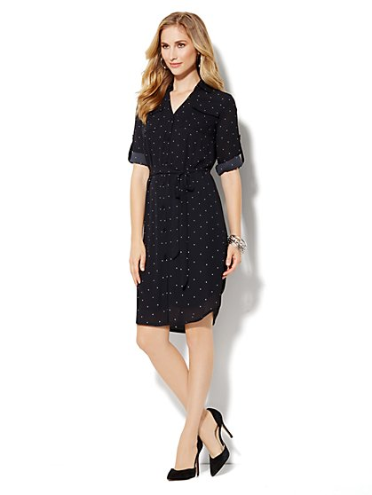 Mercer Soft Shirtdress - Dot Print