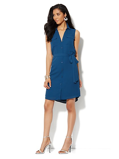 Mercer Soft Shirtdress - Sleeveless - New York & Company