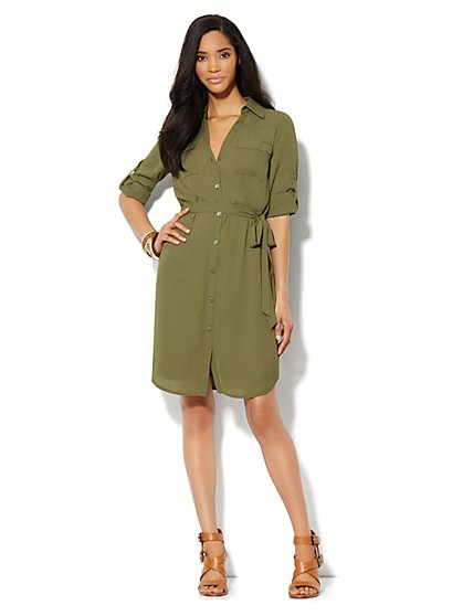Mercer Soft Shirtdress - New York & Company