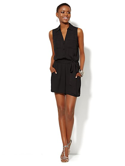 Mercer Soft Sleeveless Romper  - New York & Company