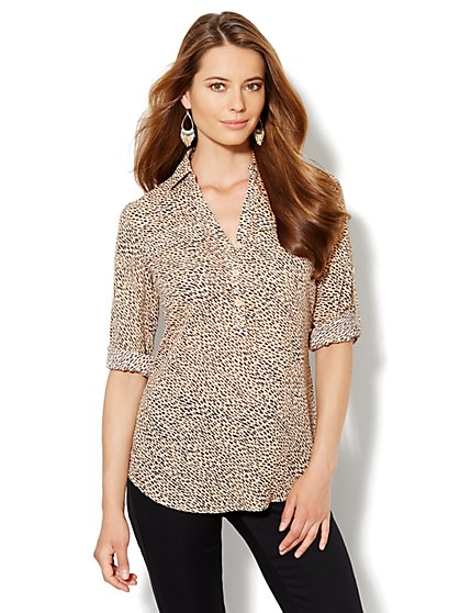 Mercer Soft Tunic - Geo Print - New York & Company