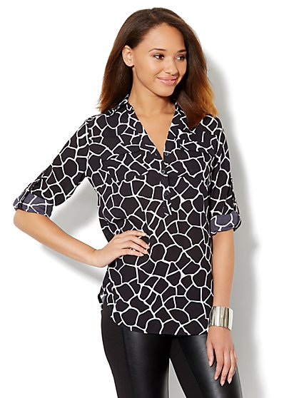 Mercer Soft Tunic - Giraffe Print - New York & Company