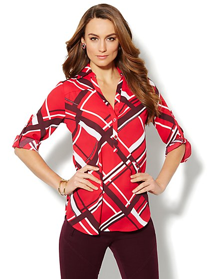 Mercer Soft Tunic - Graphic Print  - New York & Company