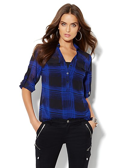 Mercer Soft Tunic - Plaid