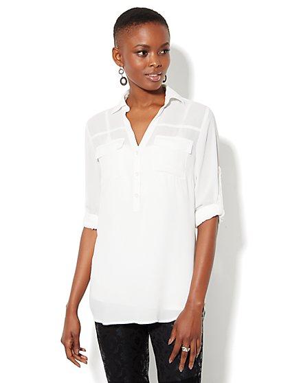 Mercer Soft Tunic - Solid - New York & Company