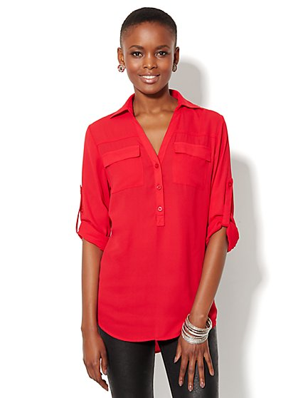 Mercer Soft Tunic - Solid - New York & Company