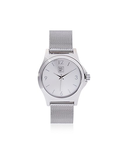 Mesh Bracelet Watch   - New York & Company