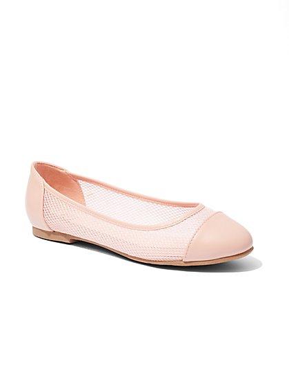 Mesh Cap-Toe Ballet Flat  - New York & Company