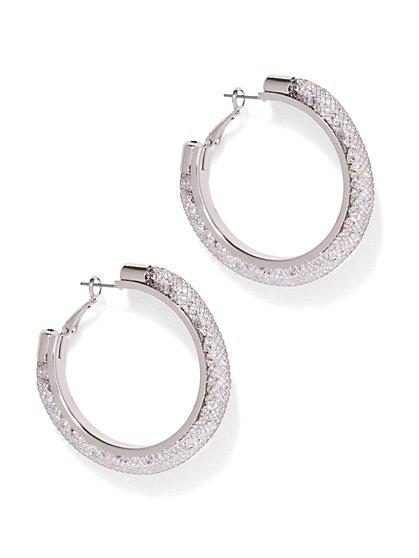 Mesh Hoop Earring  - New York & Company