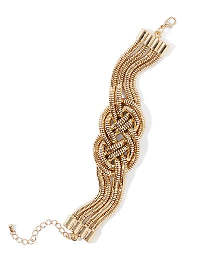 Mesh-Knot Golden Bracelet - New York & Company