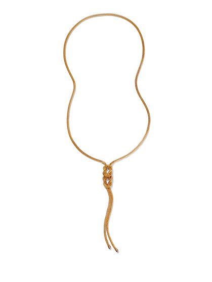 Mesh Knot Necklace  - New York & Company