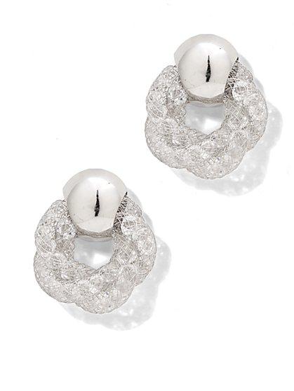 Mesh Knot Post Earring  - New York & Company