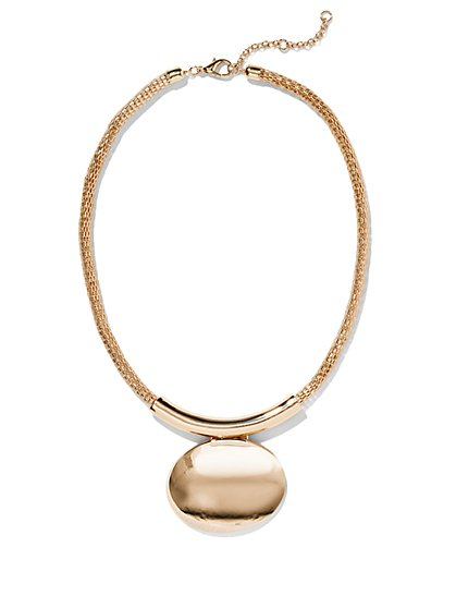 Mesh Medallion Necklace - New York & Company